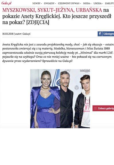 b60008a47d Relacja pokazu kolekcji Aneta Kręglicka x L AF na portalu Gala.pl