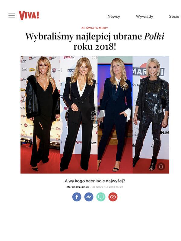 42fc26ad24 Aneta Kręglicka w kreacji AK x L AF wśród najlepiej ubranych Polek według  Viva.pl