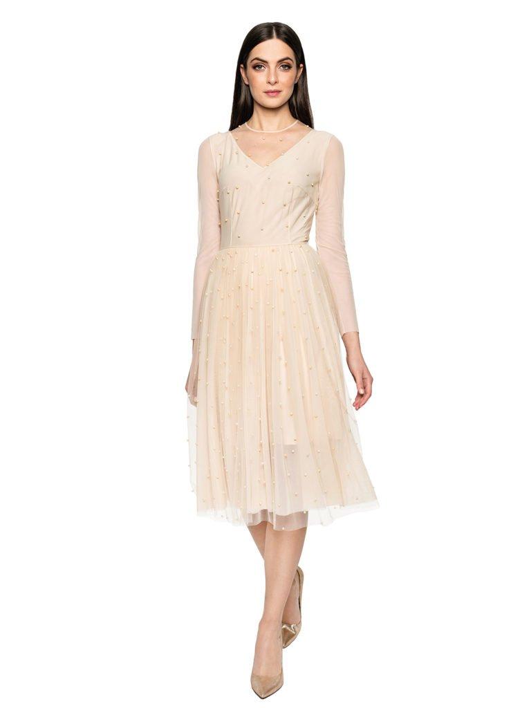 Sukienka CINDERELLA beż