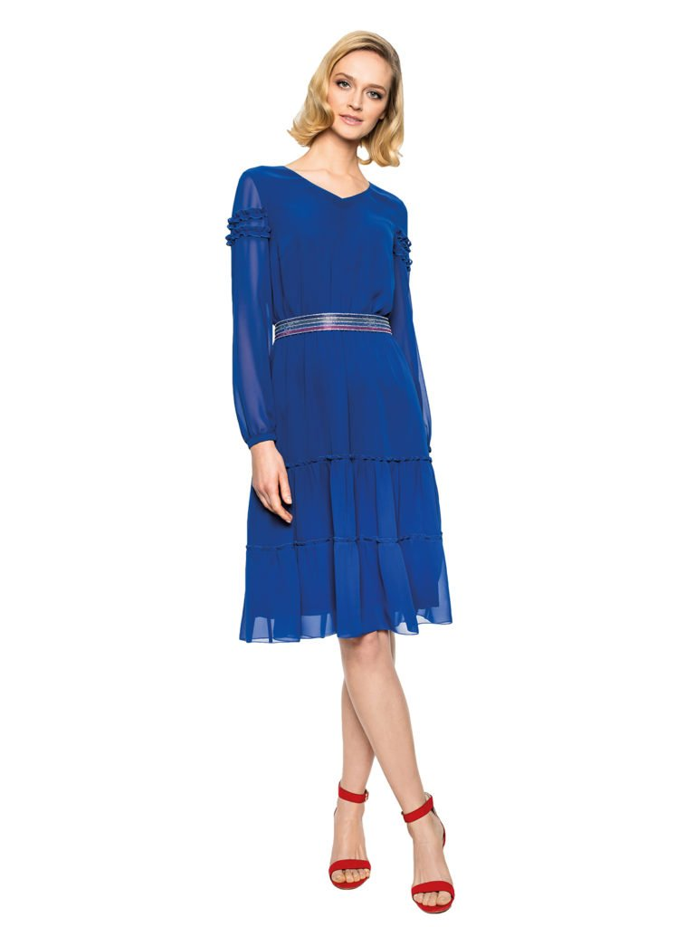 Sukienka ELECTRA niebieska