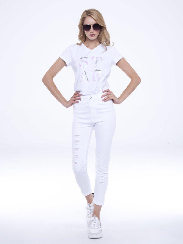 Jeansy Nomi białe