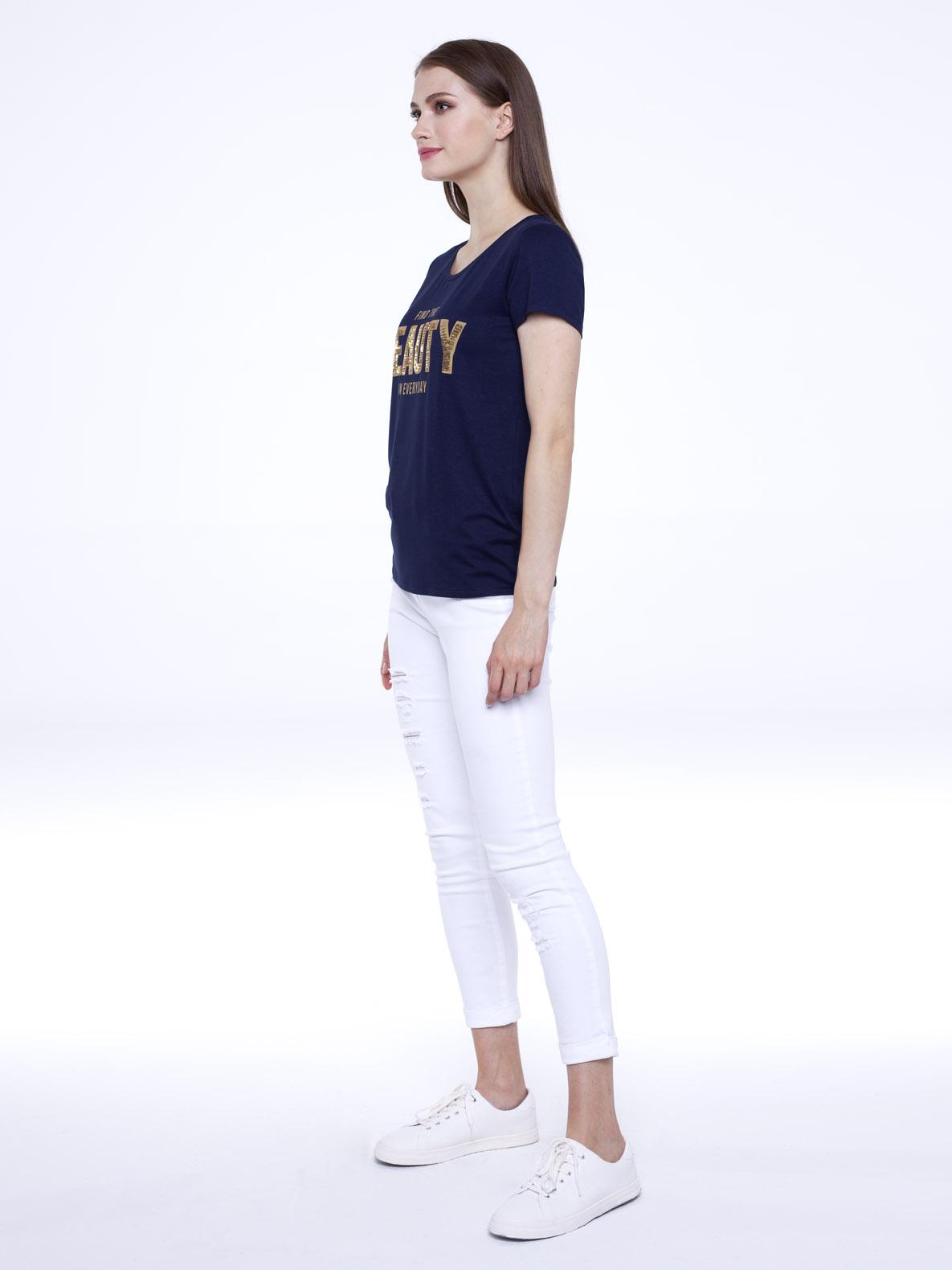 T-shirt She granatowy