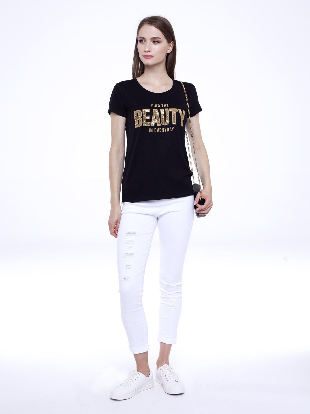 T-shirt She czarny