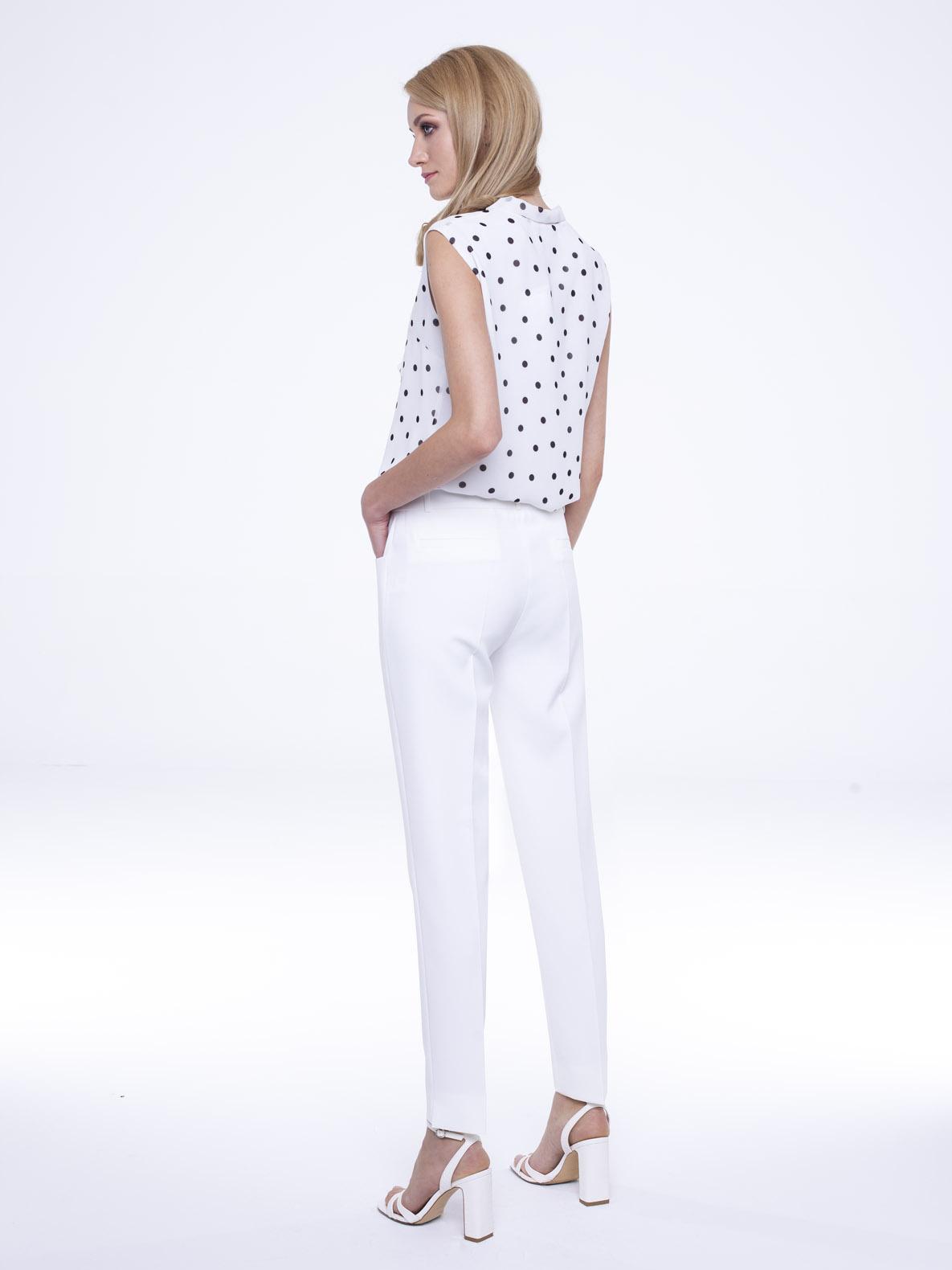 Spodnie Peony białe