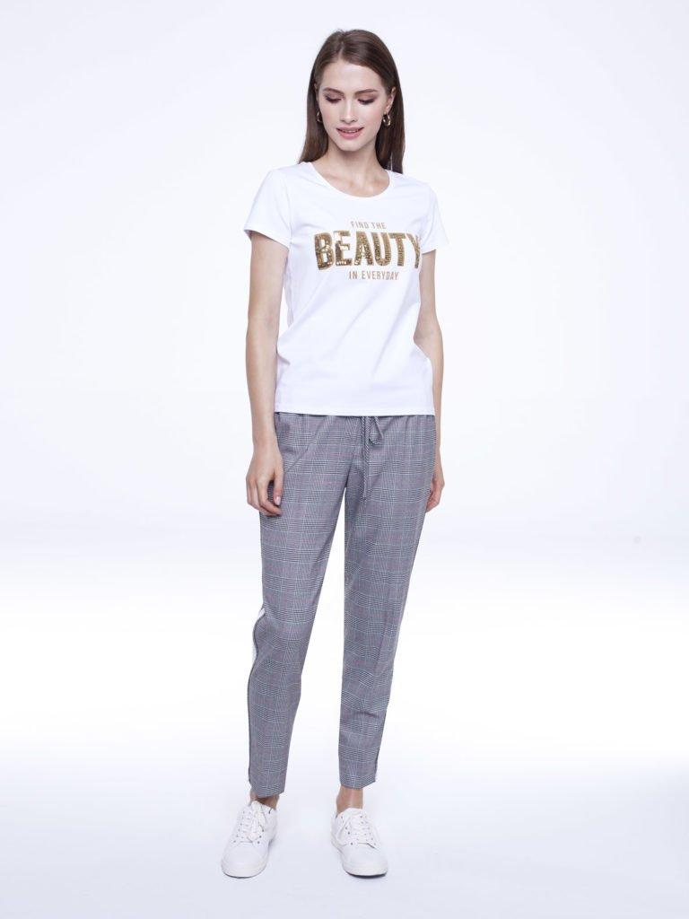 T-shirt She biały